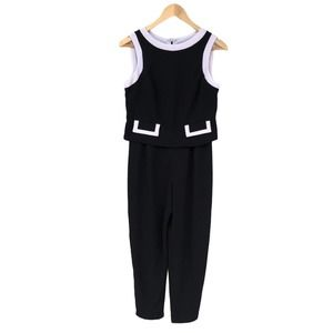 Laundry by Shelli Segal Black and White Jumpsuit